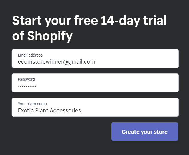 Indonesia Shopify 14 Day Free Trial