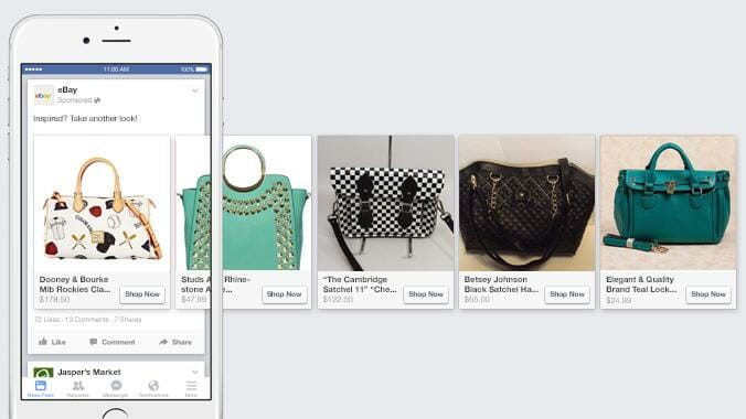 facebook product ads for ecommerce