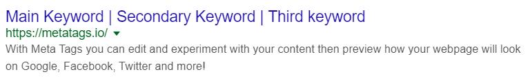google serp listing meta example 1