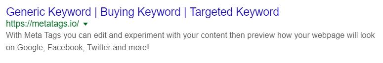 google serp listing meta example 2