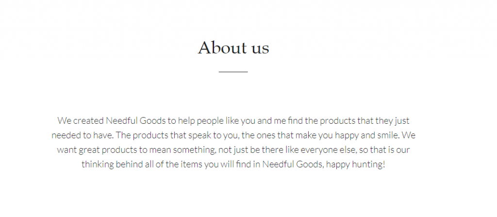 about us pages shopify