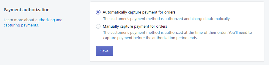 payment authorization shopify