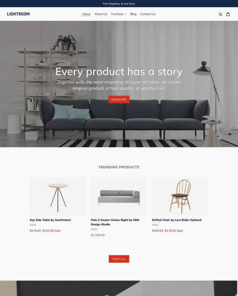 theme example for shopify store