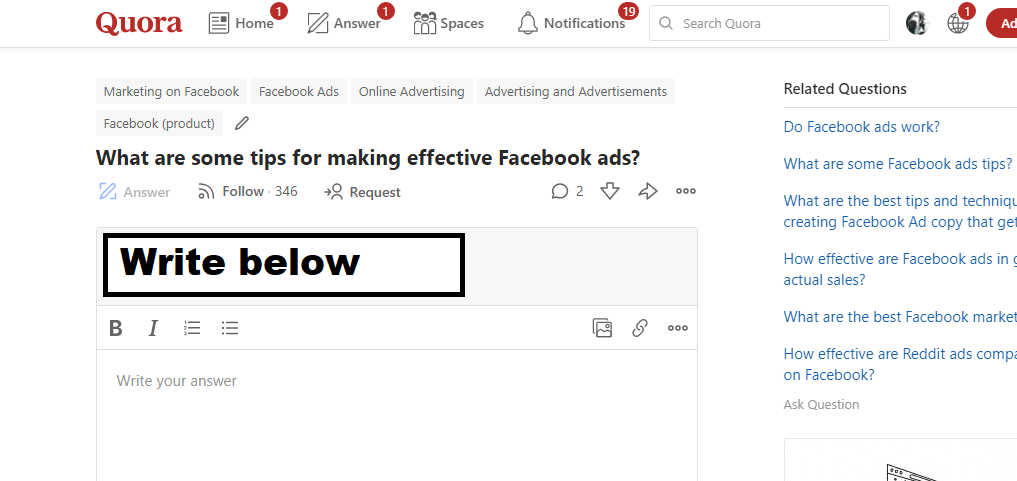 how to write an answer on Quora